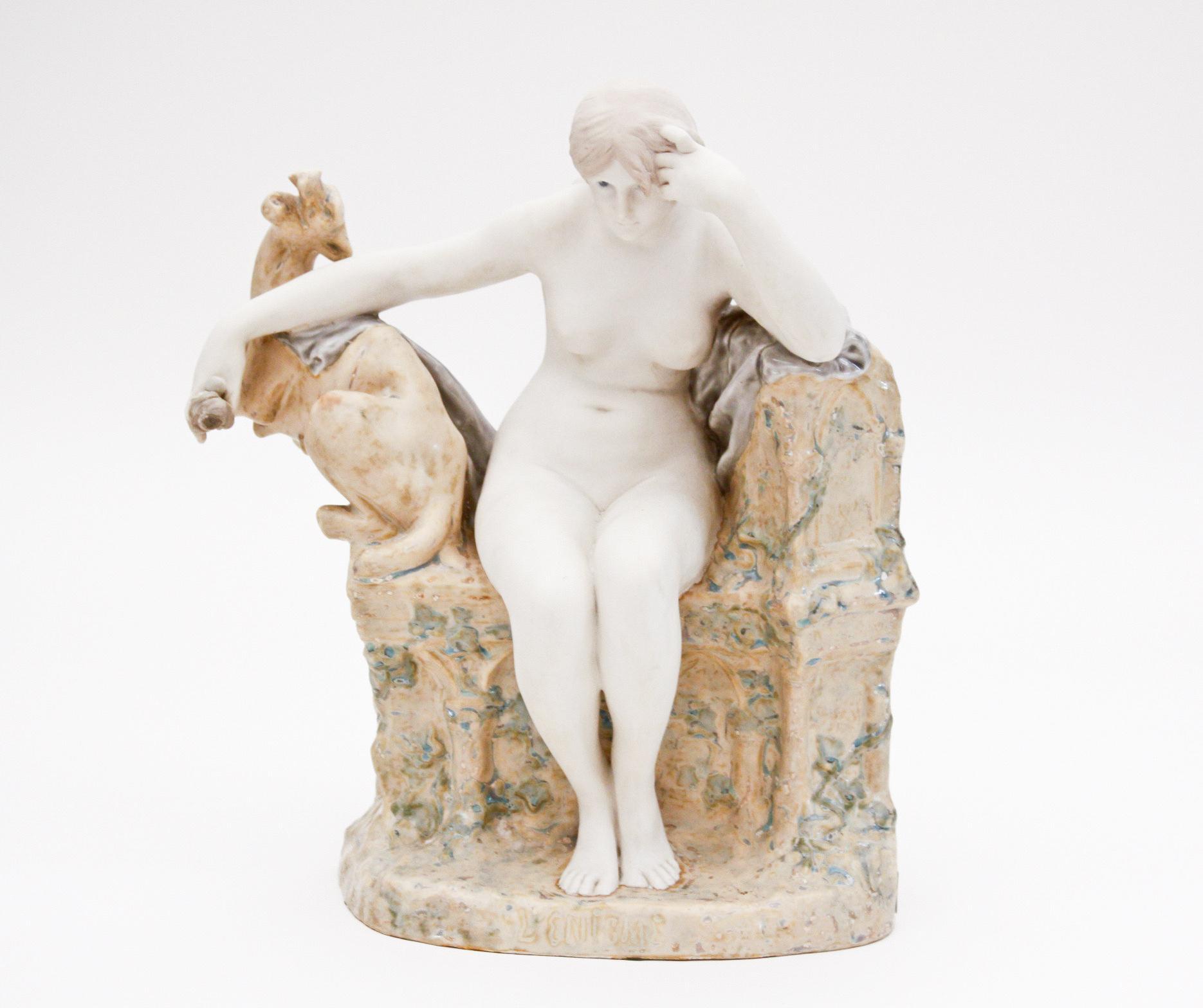 "Sevres  Sculptural Figure ""L'Enigme"" 1"
