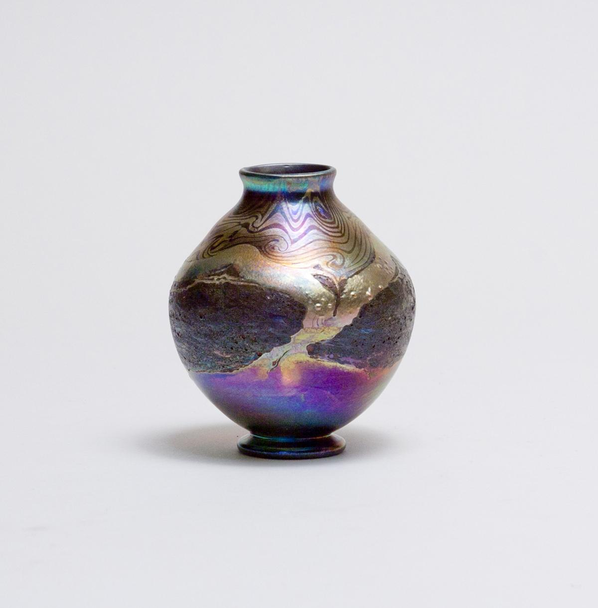 Tiffany Favrile Glass  Decorated Cypriote Vase 2