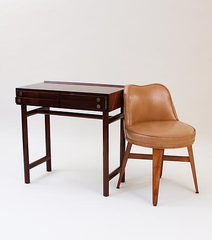 Ed Wormley for Dunbar  &lt;br&gt;Writing Table and Swivel Chair 1