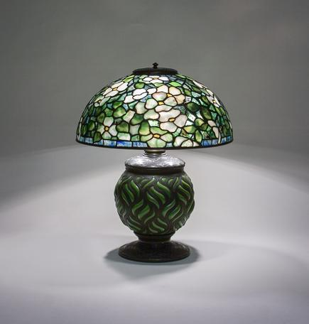 Tiffany Studios  Early  Dogwood  Table Lamp 1