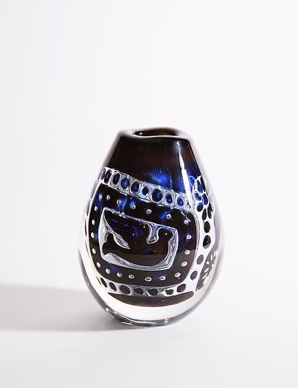 Orrefors Woman and Dove 'Ariel' Glass Vase 2
