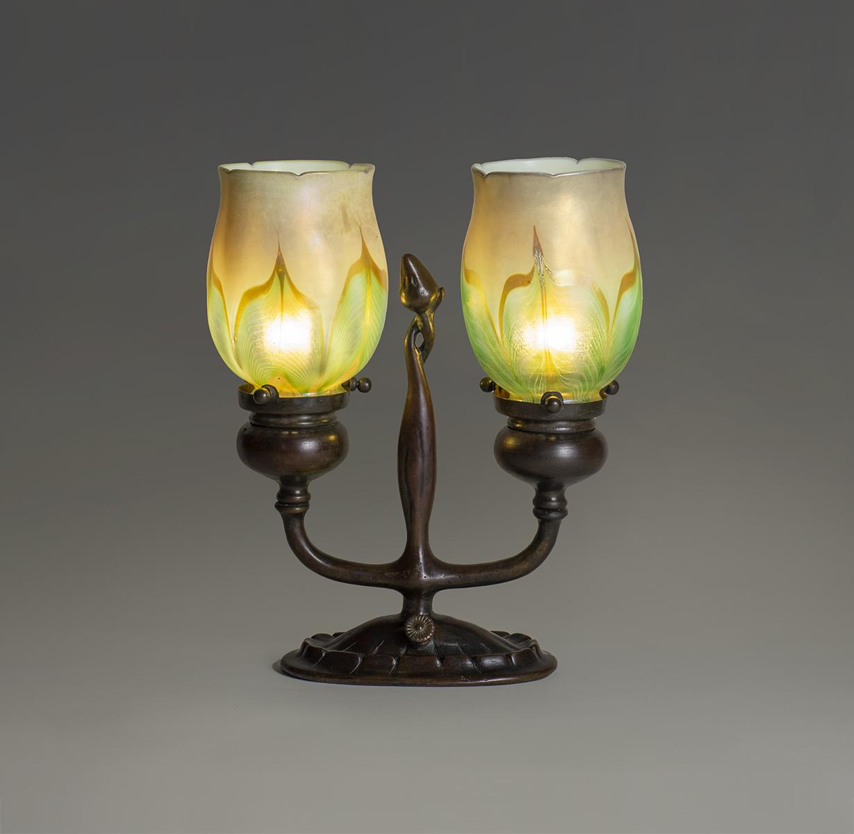 Tiffany Studios  Electrified Candelabrum 1