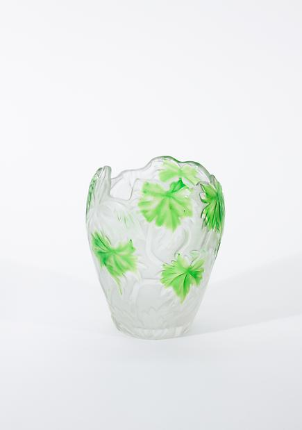 Tiffany Favrile Glass  Cameo Vase 1