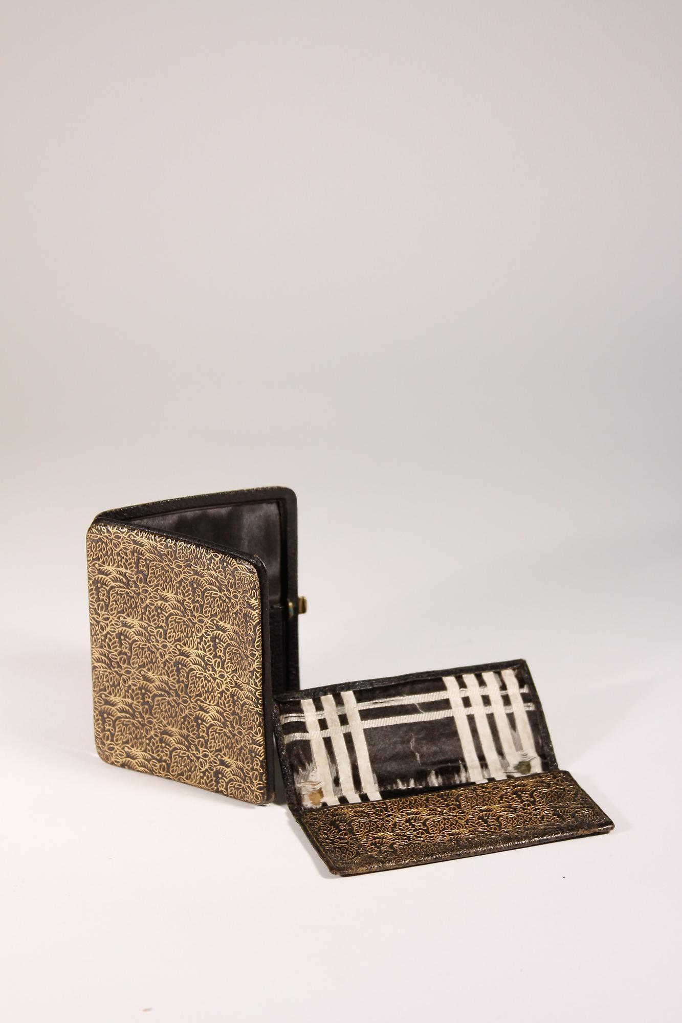 Dagobert Peche Leather Cigarette Case and Card Holder 1