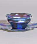 Tiffany Favrile Glass  Finger Bowl and Underplate