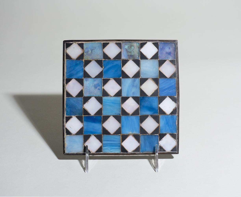 Tiffany Studios Geometric Favrile Glass Mosaic Trivet 1