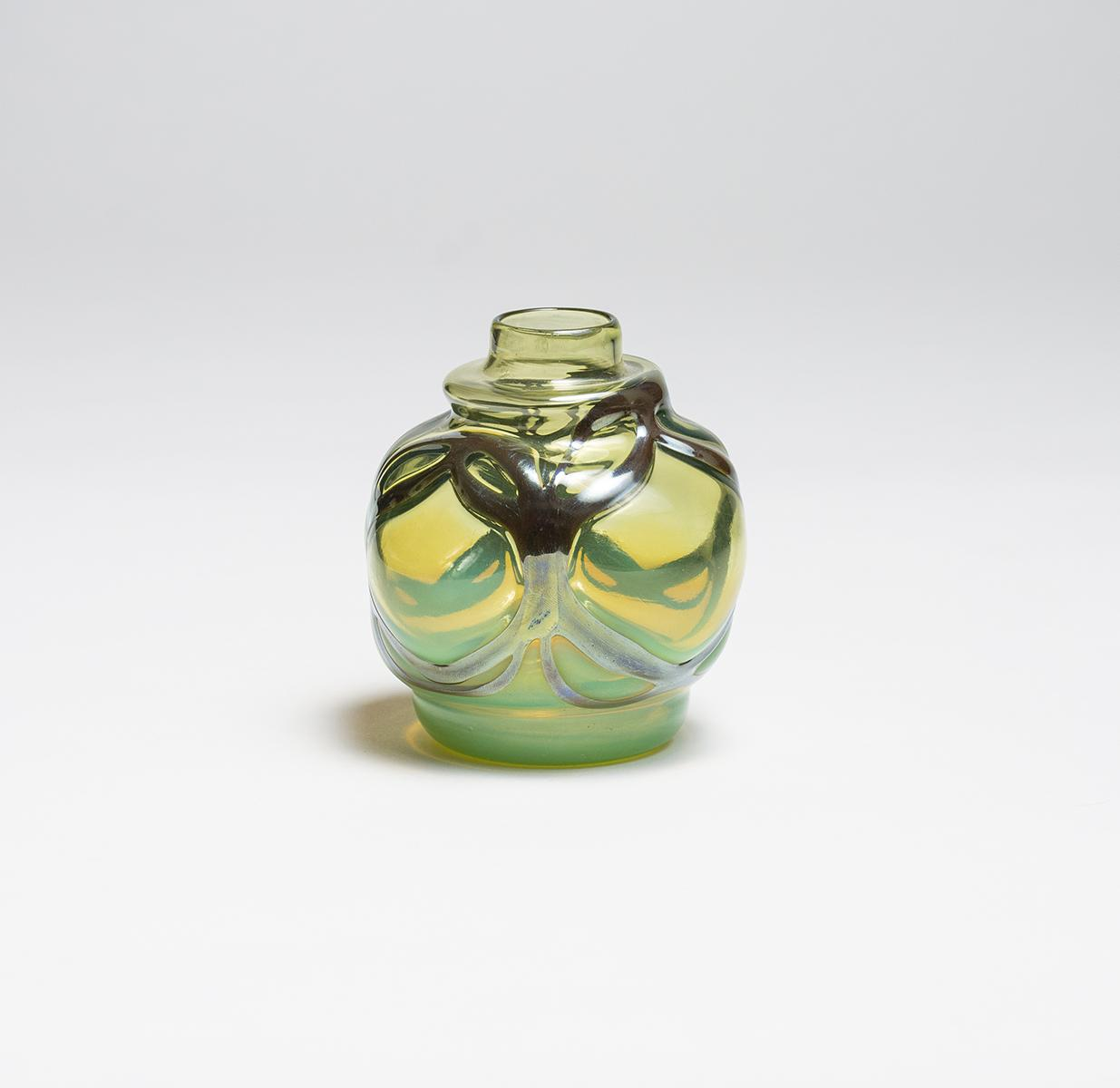 Tiffany Favrile Glass  Early Cabinet Vase 2