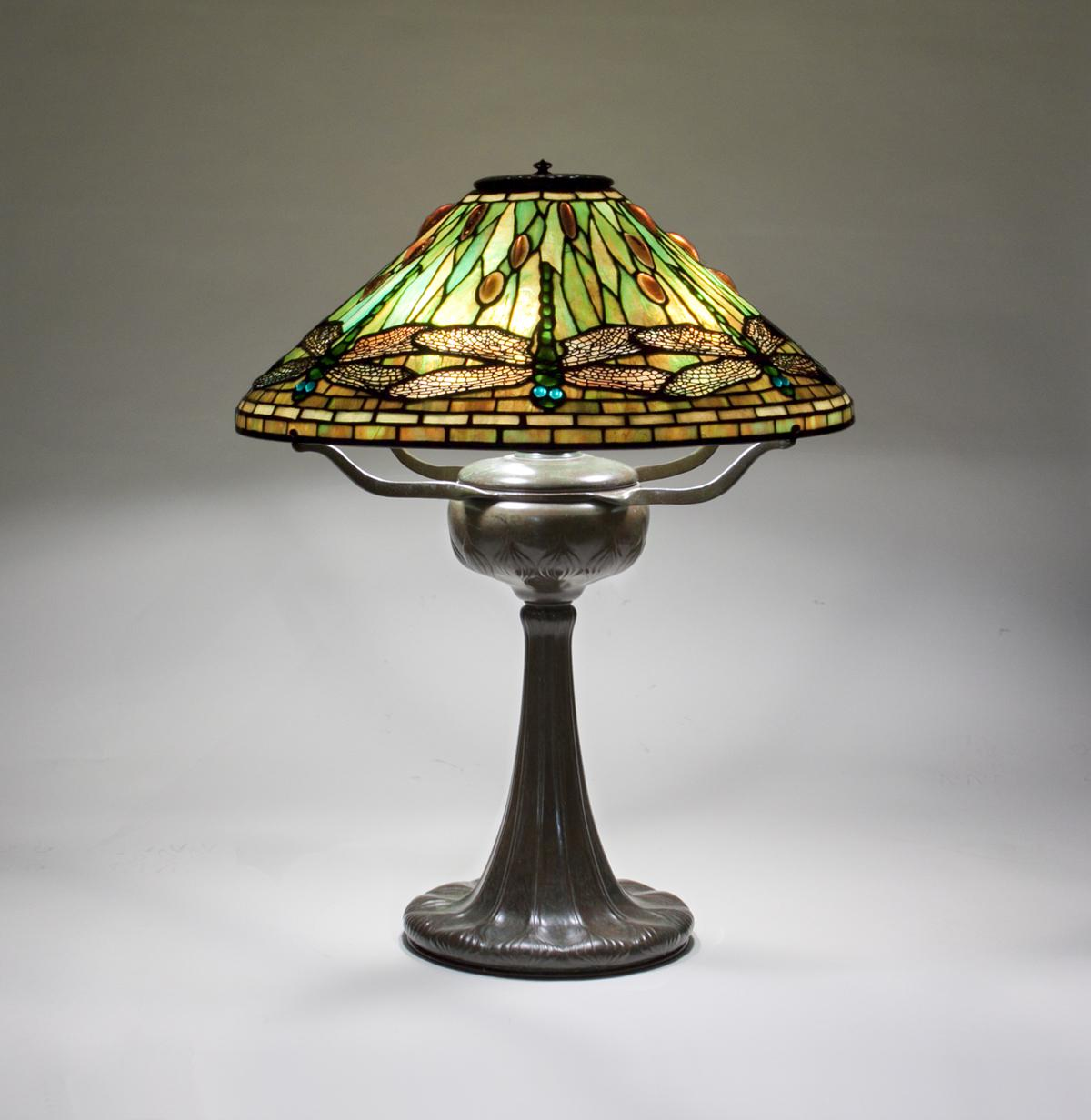 Tiffany Studios  Dragonfly Table Lamp 1