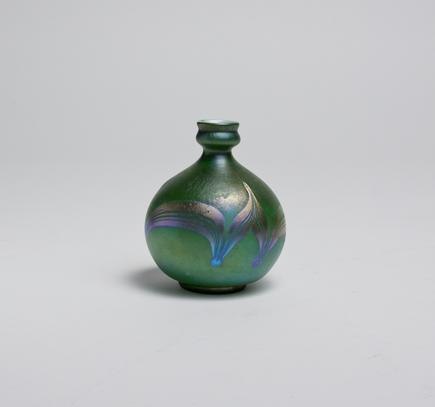 Tiffany Favrile Glass  Decorated Cabinet Vase 2