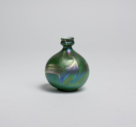 Tiffany Favrile Glass  Decorated Cabinet Vase 3