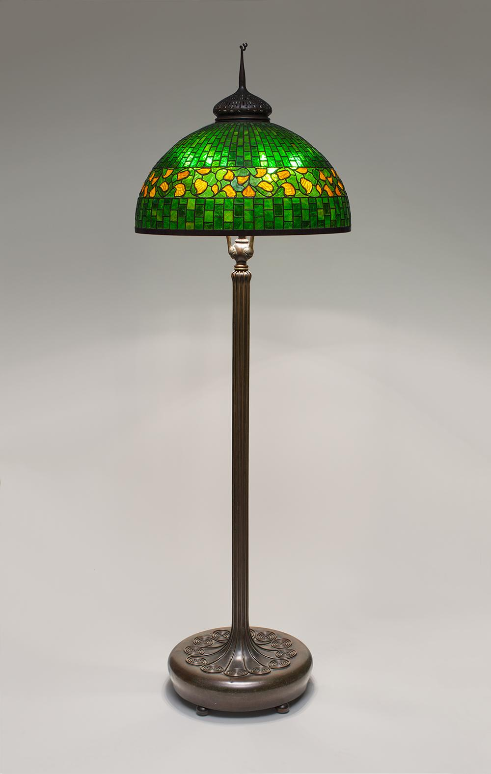 Tiffany Studios  Lemon Leaf Senior Floor Lamp 1