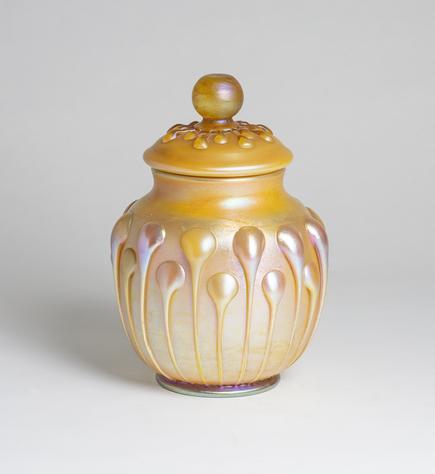 Tiffany Favrile Glass  Covered Jar 1