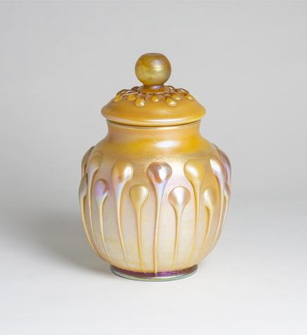 Tiffany Favrile Glass  Covered Jar 2