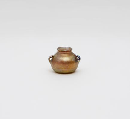 Tiffany Favrile Glass  Early Miniature Vase 1