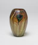 Tiffany Favrile Glass <br> Rare Early Peacock Vase