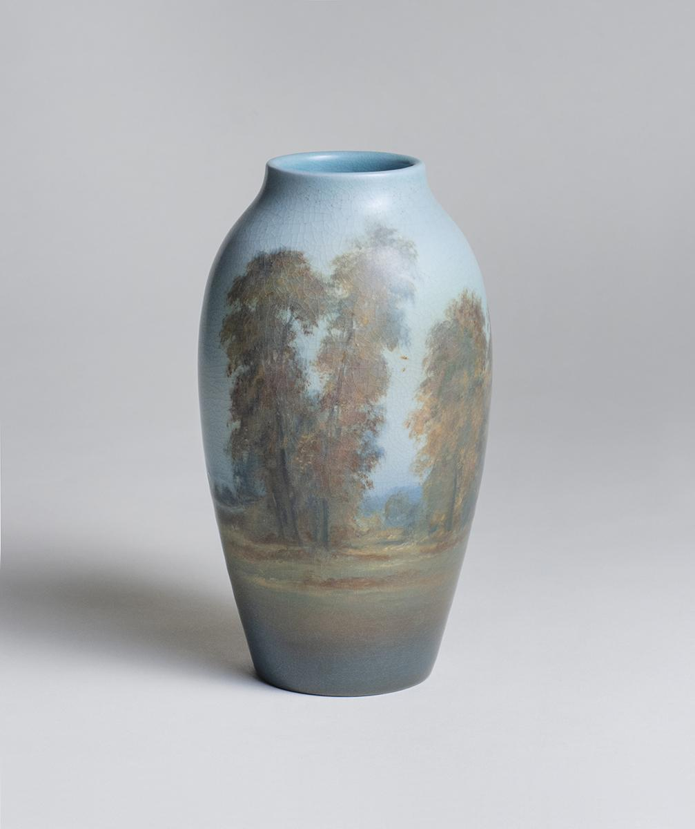 Ed Diers for Rookwood Pottery  Scenic Vellum Vase 1