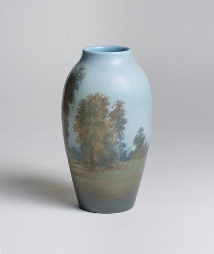 Ed Diers for Rookwood Pottery  Scenic Vellum Vase 2