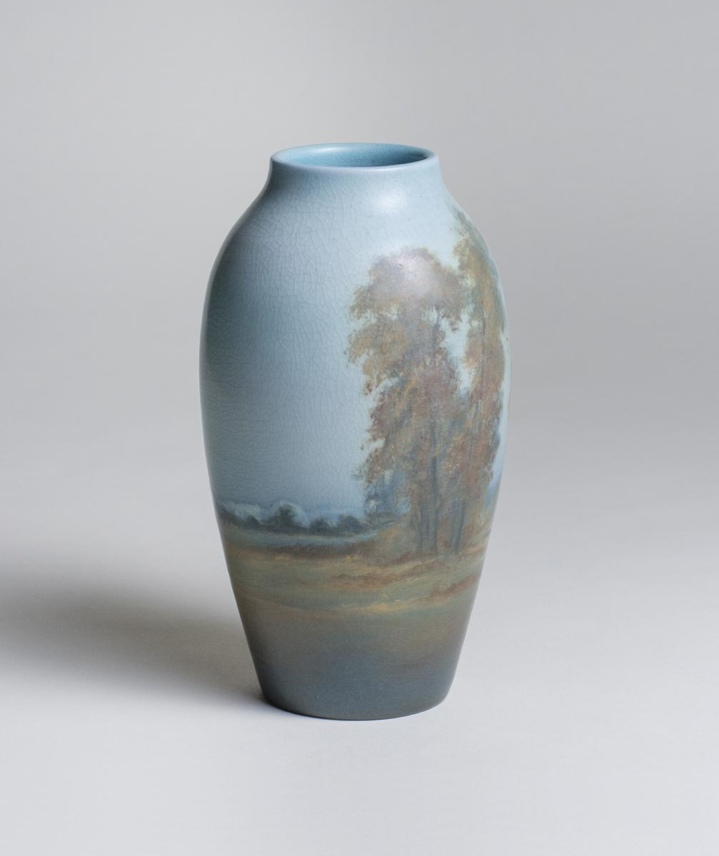 Ed Diers for Rookwood Pottery  Scenic Vellum Vase 3