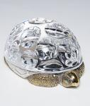 Paul Schulze for Steuben  Crystal and Vermeil Turtle