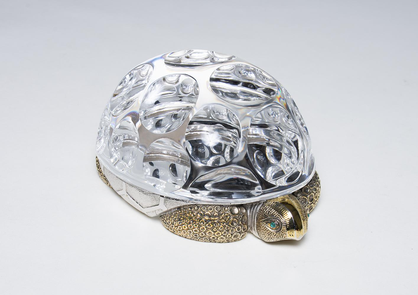 Paul Schulze for Steuben  Crystal and Vermeil Turtle 1