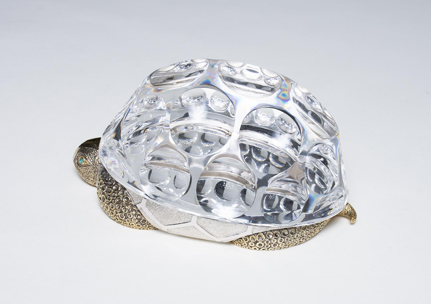 Paul Schulze for Steuben  Crystal and Vermeil Turtle 2