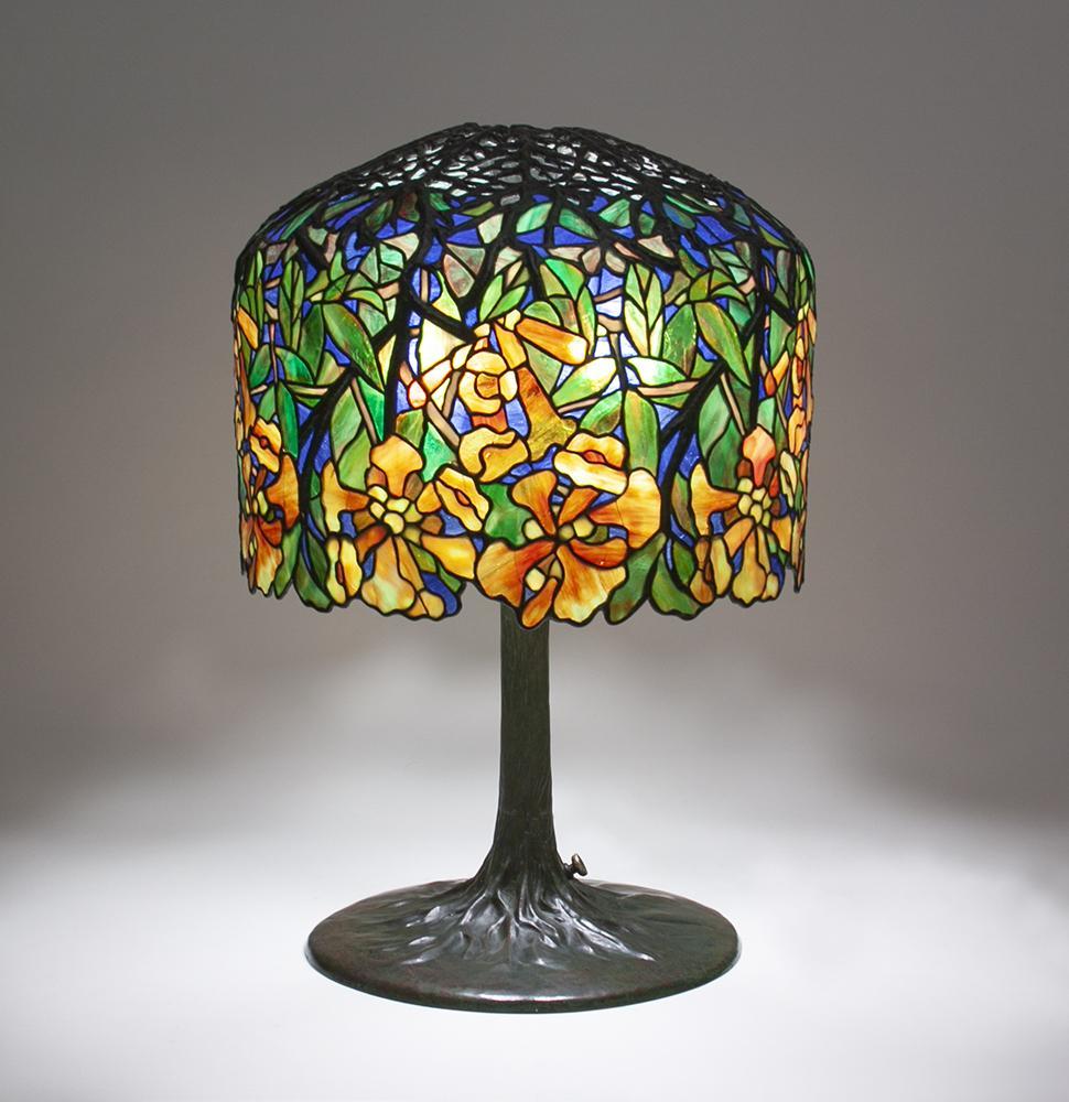 Tiffany Studios   Trumpet Creeper  Table Lamp 1