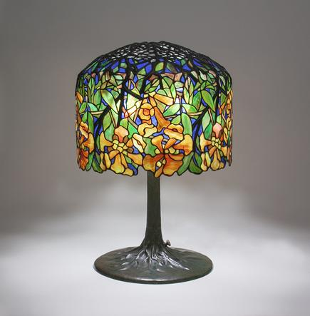 Tiffany Studios <br> Trumpet Creeper Table Lamp 2