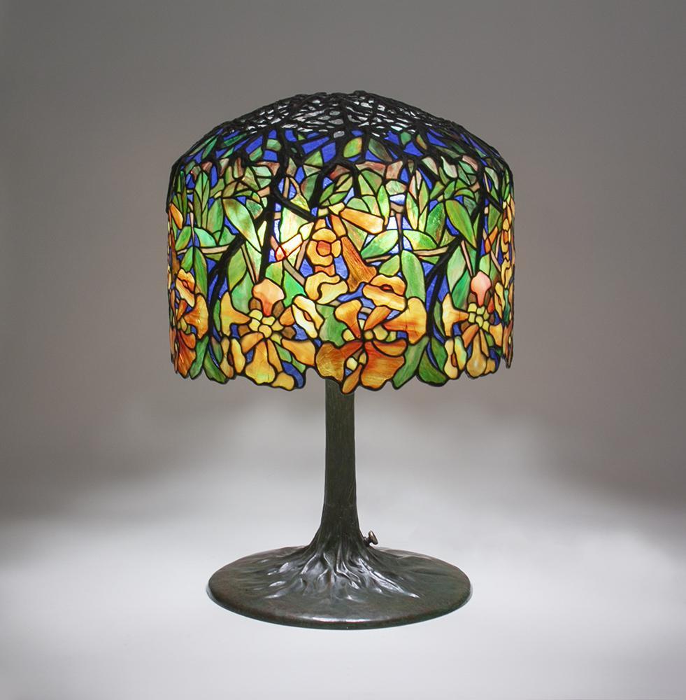 Tiffany Studios   Trumpet Creeper  Table Lamp 2