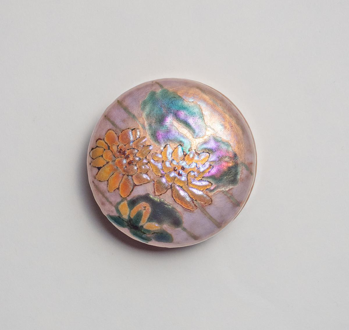 Enameled Lidded Box with Water Lilies 2