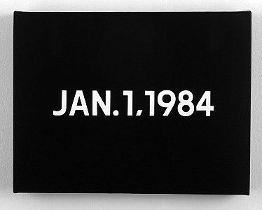 On Kawara <i>Jan.1.1984,</i> 1984 Liquitex on canvas 33.5 x 25.5 cm
