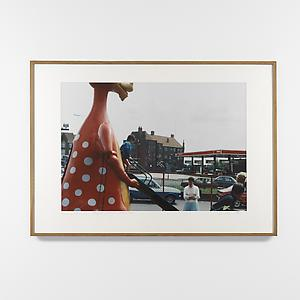 <i>Kids Using Dinosaur Slide in front of `Family Restaurant', Environs of London, </i>1984 Unique Cibachrome print 113.5 x 160.5 cm