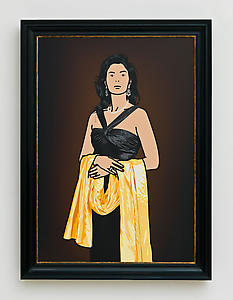 Antonia with yellow shawl., 2008 Inkjet on canvas 120 x 83.9 cm