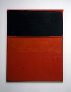 <i>What is Seen is Described, what is Described is Seen (Rothko) Version 1,</i> 2006 Oil on canvas 183 x 165 cm