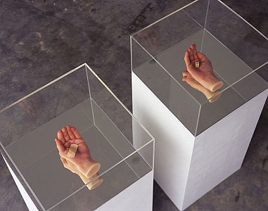 <i>Second Hand Daily Exchange, </i>2006 Wax hands 20 x 10 x 10 cm