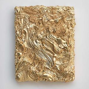 Jason Martin  <i>'As yet untitled' (gold)</i> 2011 Pure pigment on panel 60 x 48 cm