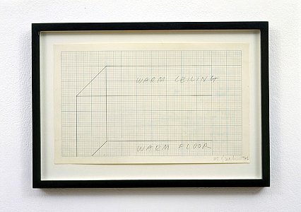 Art & Language <i>Drawing for Temperature Show,</i> 1966 Pencil on graph paper 20.3 x 33 cm