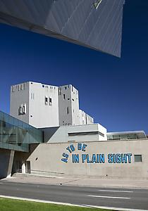 Lawrence Weiner Outdoor commission of AS TO BE IN PLAIN SIGHT at the Denver Art Museum, Colorado, 2011