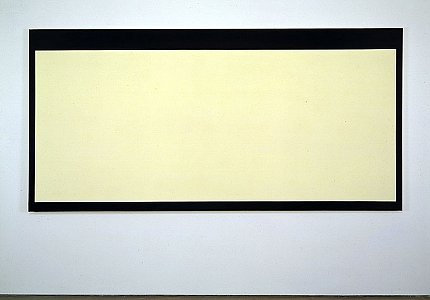 Peter Joseph  <i>Cream Colour with Black Border,</i> 1970 Acrylic on cotton duck 300 x 147.5 cm