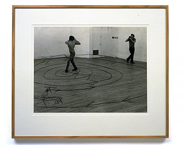 Dan Graham <i>Two Correlated Rotations, </i>1969 Black & white photograph 74 x 86 cm