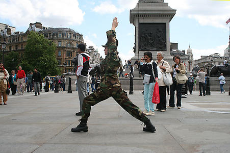 Allora & Calzadilla <i>Balance of Power</i>, 2007 Trafalgar Square, London 8 July 2008