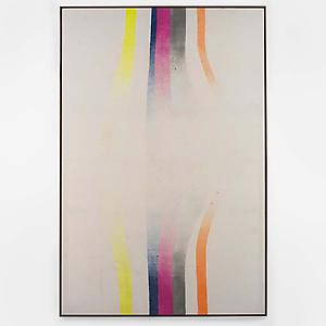John Latham  <i>Forcefield, </i>1967 Spray paint on canvas 277.4 cm x 181.3 cm