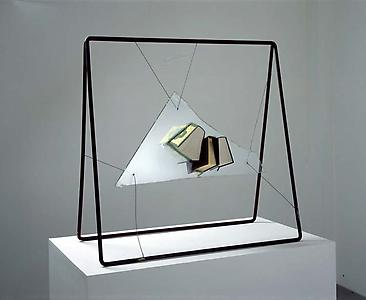 John Latham  <i>God is Great (#1b), </i>1991 Glass, books, resin 91.5 x 91.5 x 48 cm