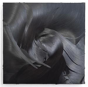Jason Martin  <i>Serubi, </i>2011 Oil on aluminium 122 x 122 x 10 cm