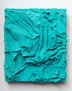 Jason Martin  <i>Bracari, </i>2011 Pigment/mixed media on aluminium 65 x 56 cm