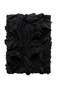 Jason Martin  <i>Yaba, </i>2011 Pure pigment on aluminium  (spinel black) 42 x 32 cm