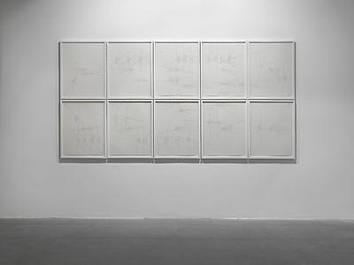 Jorinde Voigt  <i>Mosque/ Movie/ Powerstation</i>, 2012 Ink on paper 10 works 61 x 46 cm each, paper size 68 x 53 cm each, framed