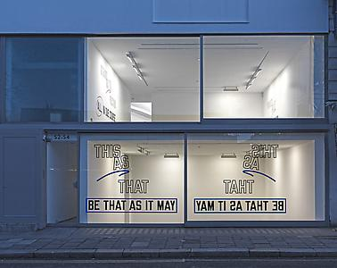 Lawrence Weiner  <i>This as that be that as it may,</i>2012 Language & the materials referred to Dimensions variable