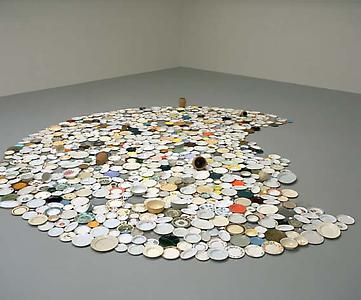 Richard Wentworth  <i> Spread,</i> 1997 Ceramic 6m diameter