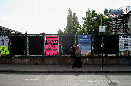 Santiago Sierra <i>4000 Black Posters</i>, London, 2008 4 Sheet Poster, 60 x 40 Inches.