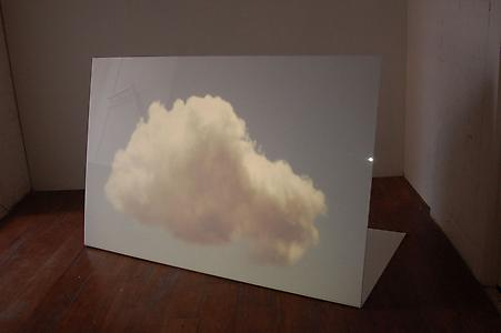 John Frankland  <i>Cloud</i>, 2009  White acrylic and projected light 120 x 180 x 70